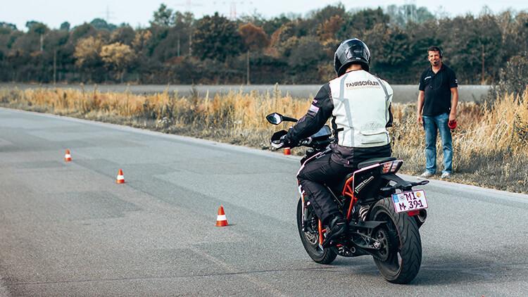 Motorrad-Ausbildung bei der Fahrschule Mathias